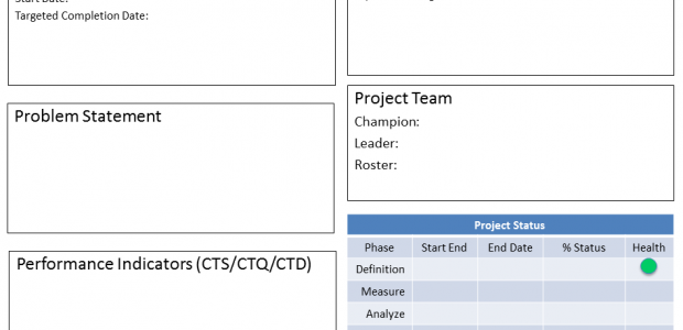 DMAIC Project Report Template 620×300