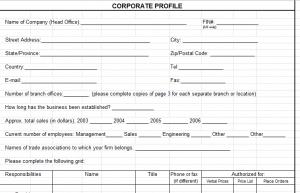 Corporate Profile Template