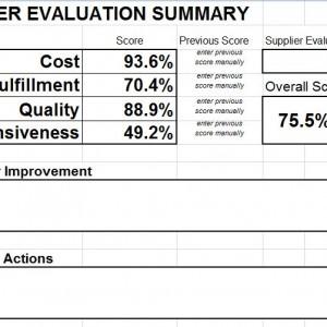 Vendor Management, supplier evaluation scorecard